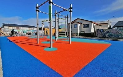 Colourful new playground and outdoor gym unveiled in Chile