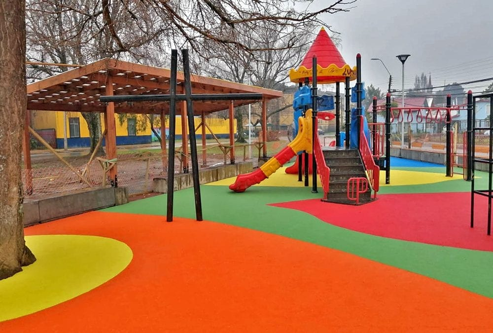 Colourful new playground unveiled in Southern Chile