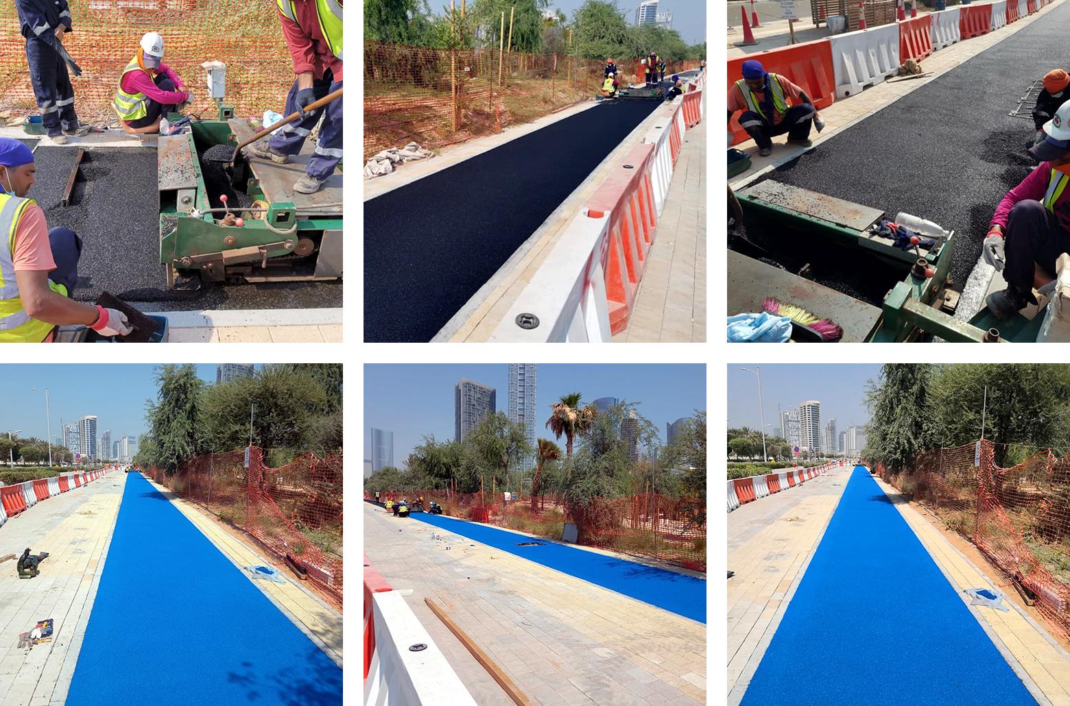 Running track construction on Al Reem Island in Abu Dhabi
