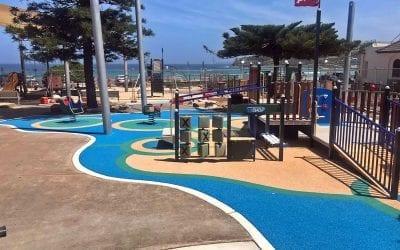 Bondi Beach Playground in NSW, Australia