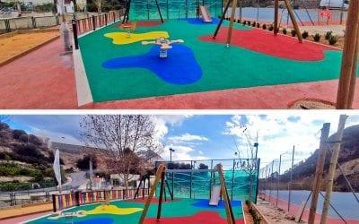 Colourful new Spanish playground