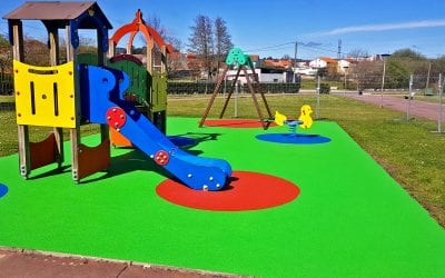 Bright new play area recently unveiled in Galicia, Spain