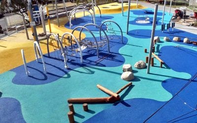 New Playground for Whangarei town basin in New Zealand